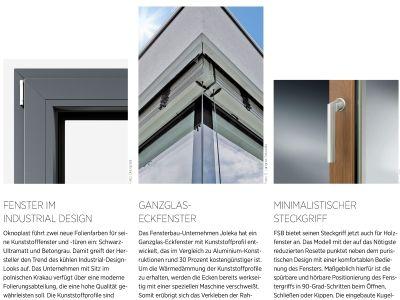 Deutsches Architektenblatt berichtet über JOLEKA Ganzglasecke