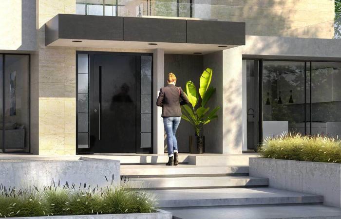 Aluminium Haustür modern