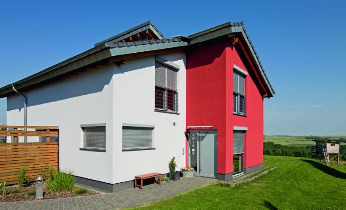 Silberfarbene Alu-Fensterbank