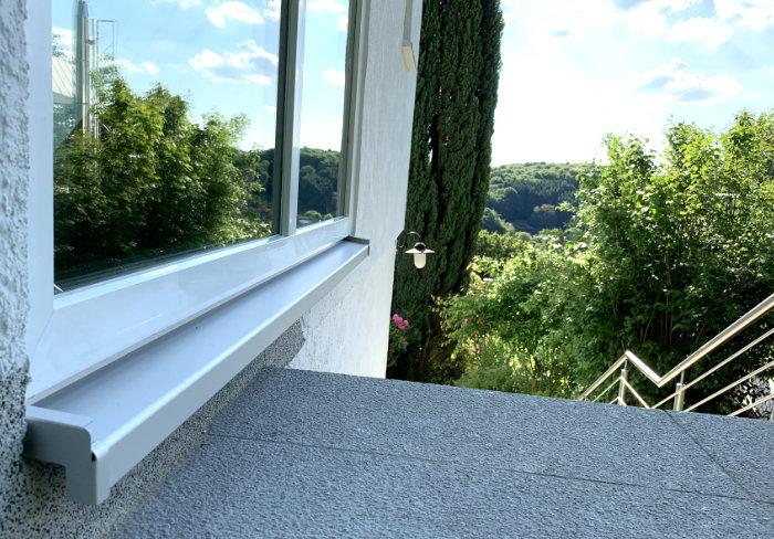 Abtropfkante Alu-Fensterbank