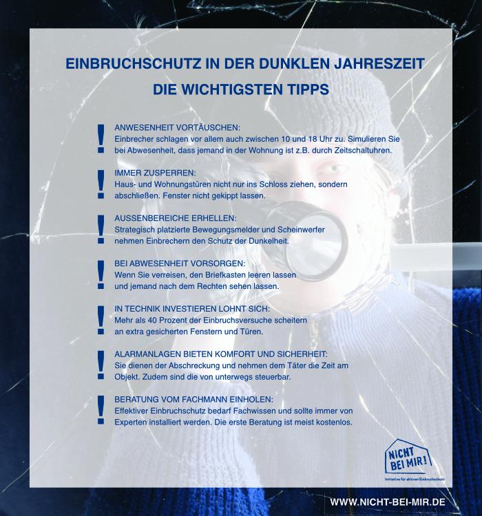 Einbruchschutz Tipps