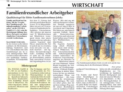 Wochenspiegel Eifel