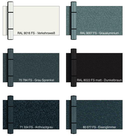 Rollentürbänder in passender Türfarbe