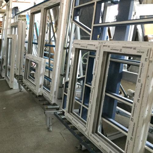 Fenster bereit für Verglasung