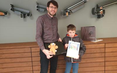 Hauptgewinner des Malwettbewerbs zu Besuch bei JOLEKA