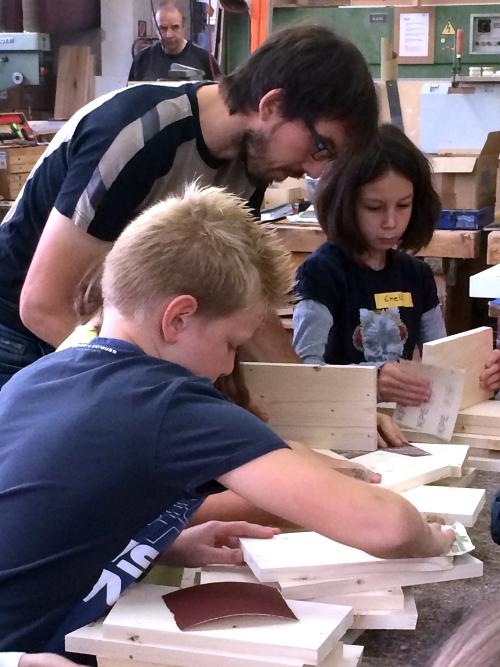 Lissendorfer Schüler mit Daniel Rieder
