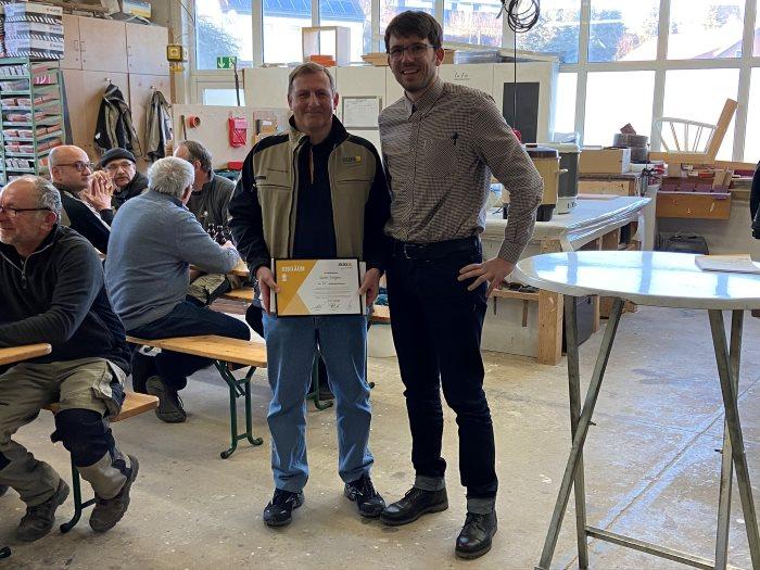 Günther Langner - seit 35 Jahren tätig als Produktionsmitarbeiter im Bereich Fensterbau