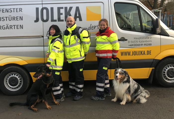 Suchhundegruppe Vulkaneifel zu Besuch bei JOLEKA