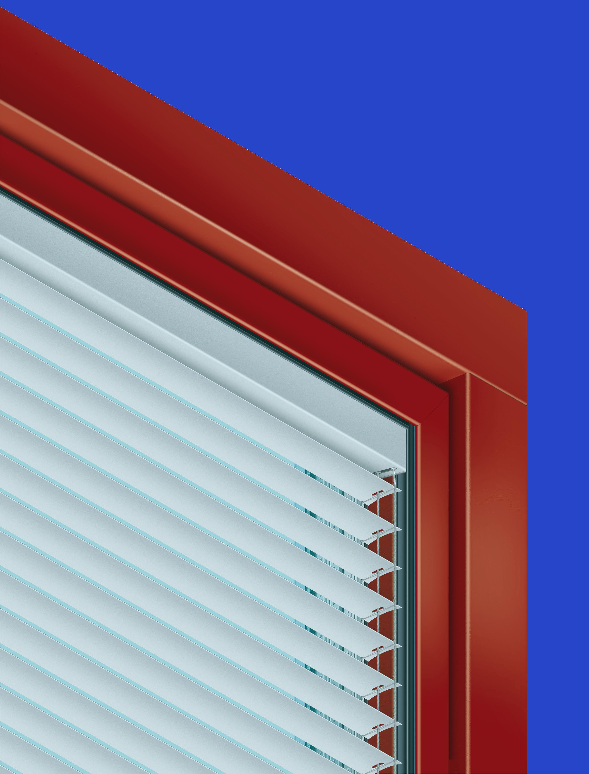 Jalousie im Fenster