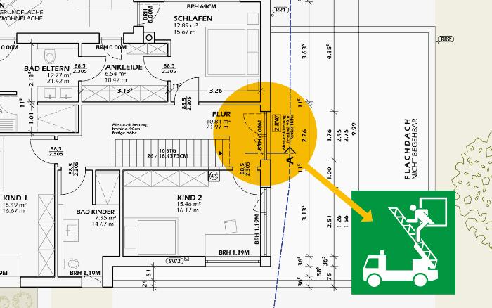 2. Rettungsweg im OG: Vorschriften gelten auch für Sonnenschutz