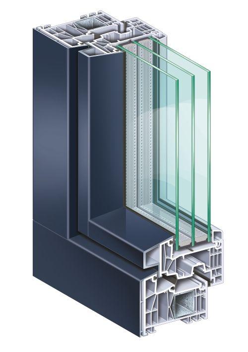 Kunststofffenster mit Aluminium-Verkleidung