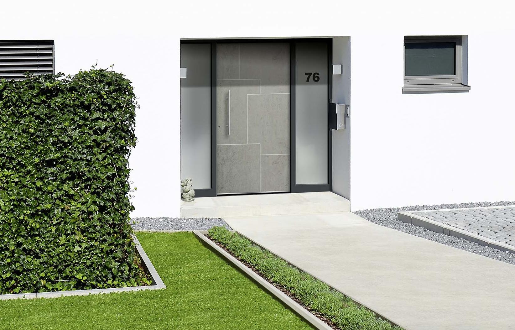 Hausturen Trends Naturwerkstoff Keramik Beton Look