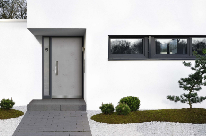 Haustür Beton-Look