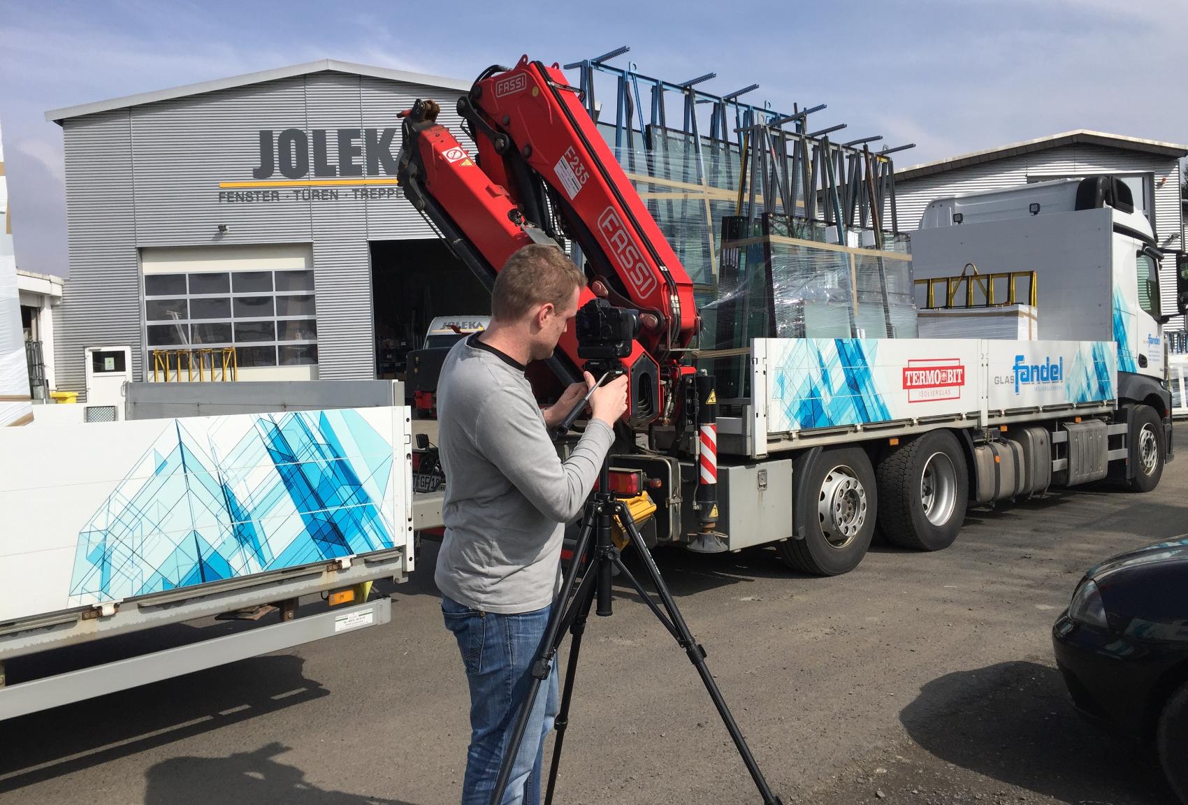 Dreharbeiten bei JOLEKA