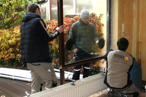 Terrassenfenster Demontage