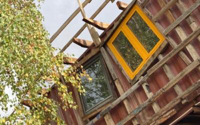 Wagenladung Fenster für's Ökodorf BENU in Luxemburg