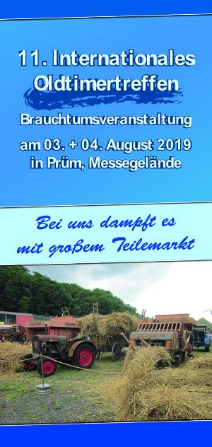 Veranstaltungs Flyer Oldtimertreffen Prüm