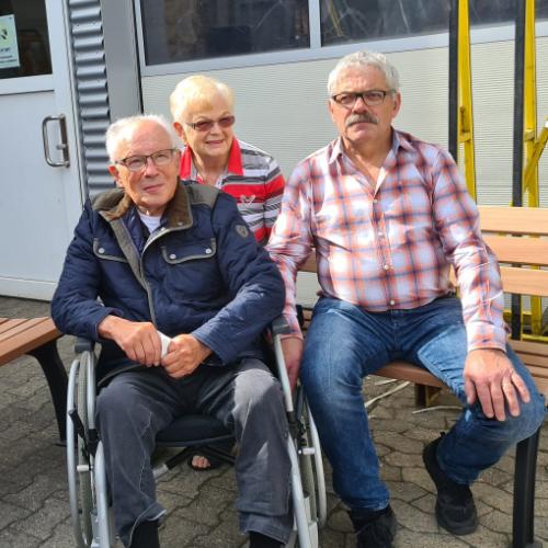 Josef Leuschen beim Abschied langjähriger Mitarbeiter