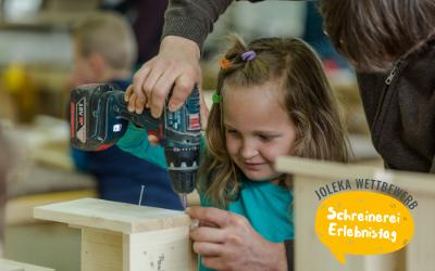 Wettbewerb für Kinder: Schreinerei Erlebnistag