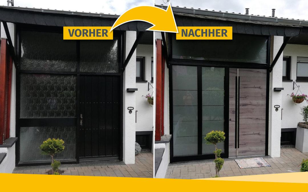 Praxis-Beispiel: Neue Haustür mit Wow-Effekt