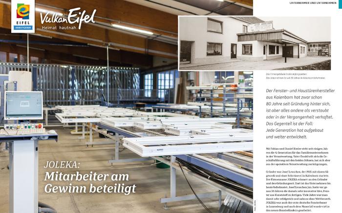 VulkanEifel stellt JOLEKA als EIFEL Arbeitgeber vor