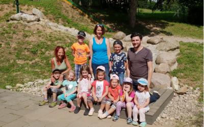 Neuer Wasserspielplatz für Kita Unter den Dolomiten