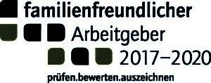 """Abbildung des Siegels der Bertelsmann-Stiftung """"Familienfreundlicher Arbeitgeber 2017-2020"""""""
