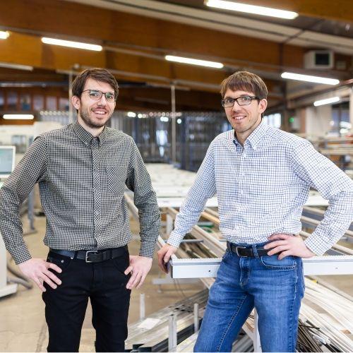 Die jungen JOLEKA Geschäftsführer Fabian und Daniel Rieder