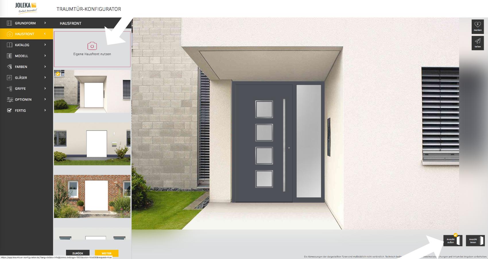 Haustür konfigurieren