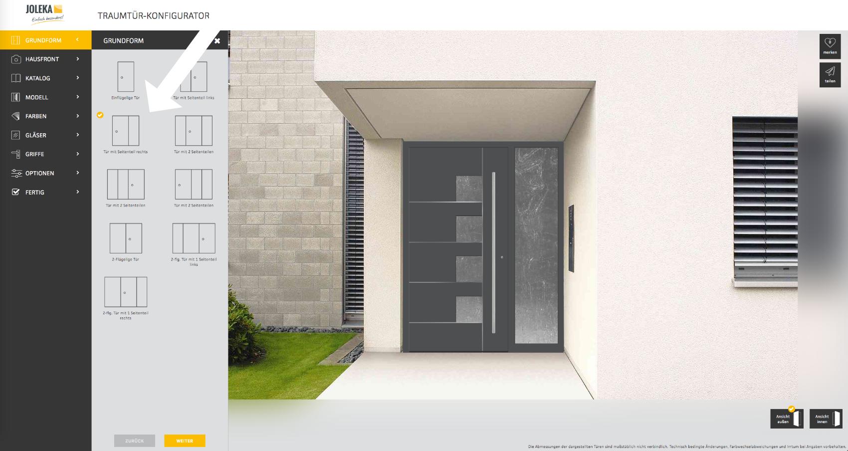 Haustür selbst designen