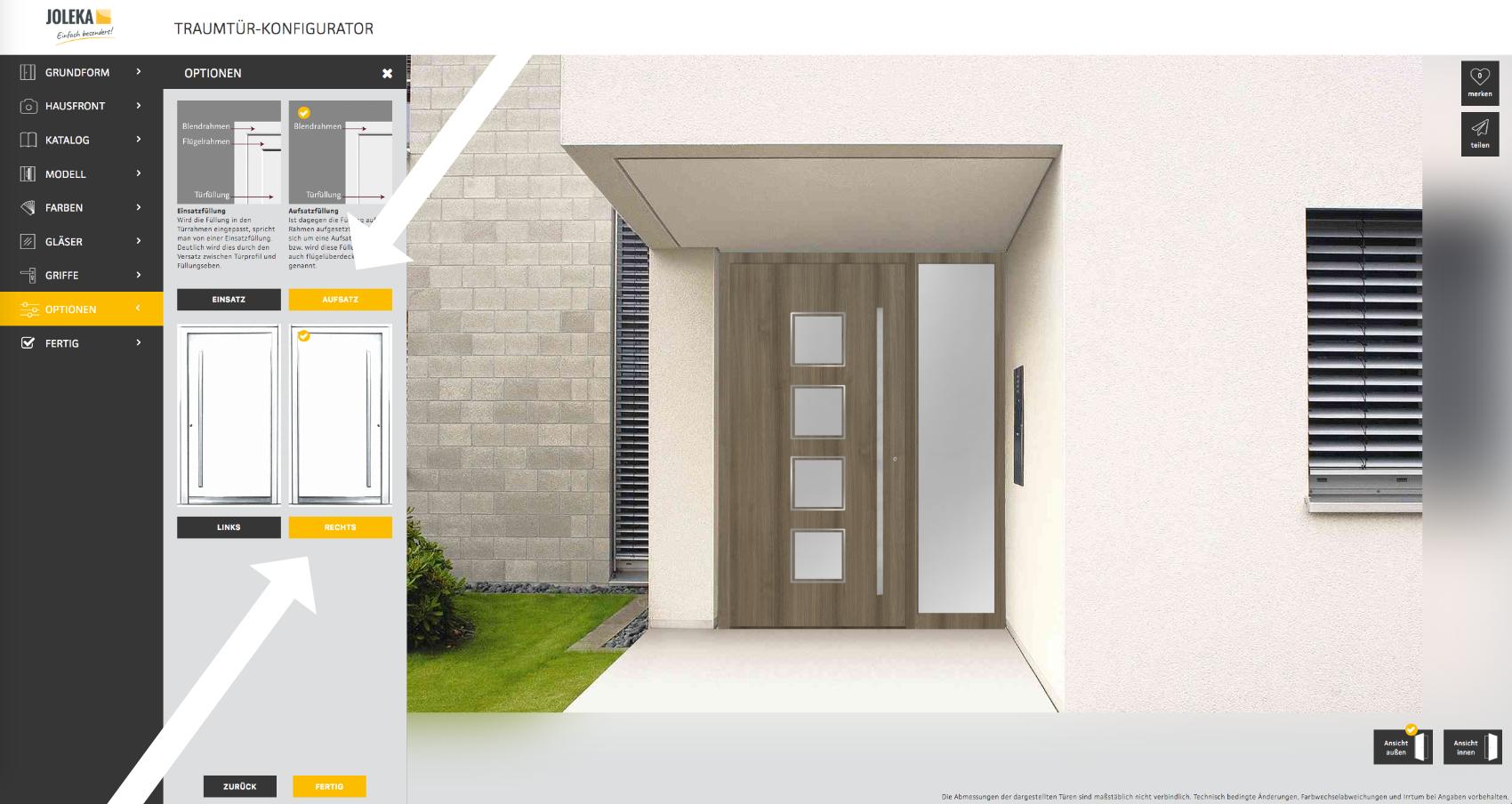 Haustür visualisieren