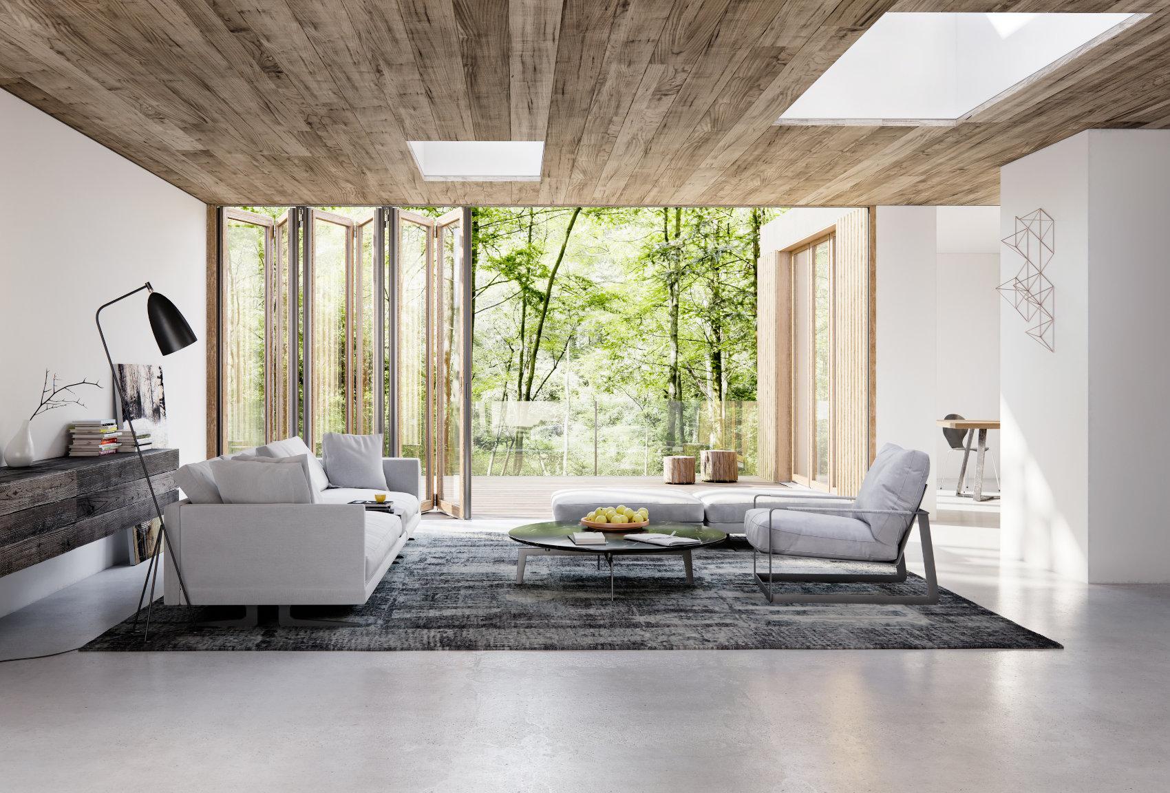 Glasfaltwand Woodline, Solarlux